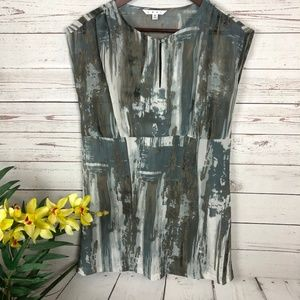 Cabi 651 Painted Tunic Keyhole Sleeveless Tunic
